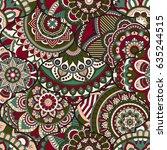 patchwork pattern. vintage... | Shutterstock .eps vector #635244515