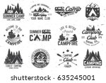 summer camp. vector... | Shutterstock .eps vector #635245001