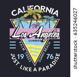 tee print vector design with... | Shutterstock .eps vector #635246027