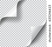 curly page corners set.... | Shutterstock .eps vector #635246615