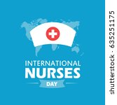 international nurse day... | Shutterstock .eps vector #635251175