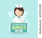 international nurse day... | Shutterstock .eps vector #635251181