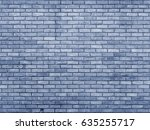 Blue Toned Brick Wall With...