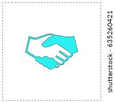handshake for business and... | Shutterstock . vector #635260421