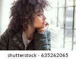 young beautiful african...   Shutterstock . vector #635262065