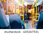 modern city bus interior and... | Shutterstock . vector #635267531