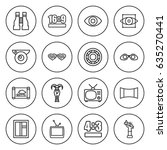 Set Of 16 View Outline Icons...