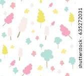 seamless vector pattern with... | Shutterstock .eps vector #635272031