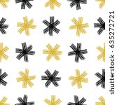 vector seamless pattern with... | Shutterstock .eps vector #635272721