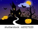 halloween house | Shutterstock . vector #63527320