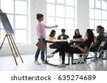 professional female coach... | Shutterstock . vector #635274689