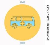 ambulance blue outline vector...