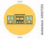 sound system blue outline...