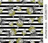vintage seamless vector pattern ... | Shutterstock .eps vector #635280755