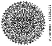 hand drawn mandala vector  | Shutterstock .eps vector #635281331