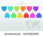 infographic colorful timeline... | Shutterstock .eps vector #635282405