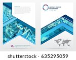 cover design annual report ... | Shutterstock .eps vector #635295059