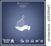 infographic with hand  chart... | Shutterstock .eps vector #635295467