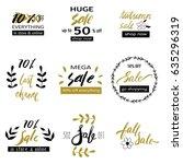 set of sale badges with unique... | Shutterstock .eps vector #635296319