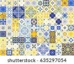 seamless pattern with with... | Shutterstock .eps vector #635297054
