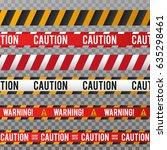 police line and danger tape....   Shutterstock .eps vector #635298461