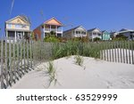 Row Of Beach Rentals On A...