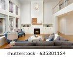 beautiful living room interior... | Shutterstock . vector #635301134
