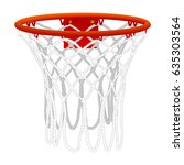 basketball hoop  isolated on...   Shutterstock .eps vector #635303564