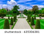 the buen retiro park in madrid. ... | Shutterstock . vector #635306381