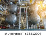 shell and tube heat exchanger... | Shutterstock . vector #635312009