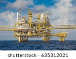 offshore oil and gas central... | Shutterstock . vector #635312021
