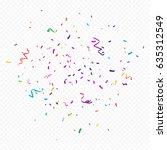 Colorful Confetti And Ribbon...