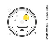 color box clock icon ... | Shutterstock .eps vector #635316851