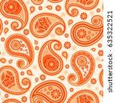 oriental seamless paisley... | Shutterstock .eps vector #635322521