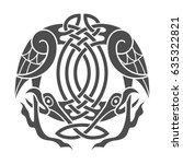 ancient celtic mythological... | Shutterstock .eps vector #635322821