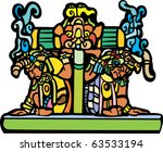 old mayan men for the base of a ... | Shutterstock .eps vector #63533194