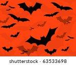 halloween bat horror background | Shutterstock . vector #63533698