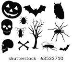halloween horror set on white... | Shutterstock . vector #63533710