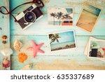 top view composition   summer... | Shutterstock . vector #635337689