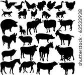 Stock vector farm animals collection vector 63533938