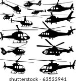 Helicopters Collection   Vector