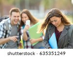 bullying victim being video... | Shutterstock . vector #635351249