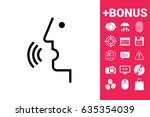 voice control  person talking   ... | Shutterstock .eps vector #635354039