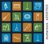 cleaner icons set. set of 16... | Shutterstock .eps vector #635357015