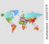 world map countries vector on... | Shutterstock .eps vector #635357579