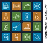 foam icons set. set of 16 foam... | Shutterstock .eps vector #635358299