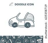 car doodle | Shutterstock .eps vector #635358719