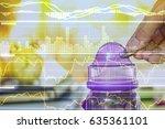stock exchange market graph... | Shutterstock . vector #635361101
