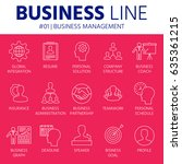 thin line icons set of business ... | Shutterstock .eps vector #635361215