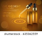 make up and skincare packaging...   Shutterstock .eps vector #635362559